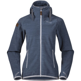 Bergans W's Hareid Fleece Jacket Fogblue Melange
